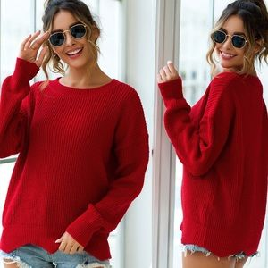 🍁 Ruby Red Holidaze Knit Sweater